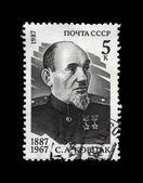 Sidor Kovpak, famous russian millitary commander, partisan, circa 1987. — Stock Photo