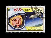 Valentina Terechkova, première femme dans l'espace, la navette de fusée, circa 1981. — Photo