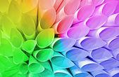 Paper conus heap, rainbow tubes diversity — Stockfoto