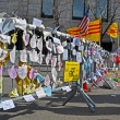 Memorial set up on Boylston Street in Boston, USA. — Stock Photo