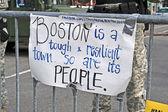 BOSTON - APR 20: Boylston Street barrier in Boston, USA on April 20, 2013. — Stock Photo