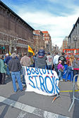 BOSTON - APR 20: near memorial set up on Boylston Street. — Stock Photo