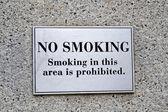 No hay señales de advertencia de fumar, modernos de la seguridad. — Foto de Stock