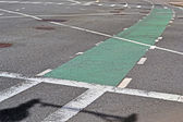 Línea verde seleccionada para bicicletas, transporte moderno. — Foto de Stock