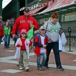 Red Sox fans in Fenway Park on April 20, 2013 in Boston, USA. — Stock Photo