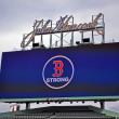 Stock Photo: Fenway Park, Boston Strong message, Boston, United States.