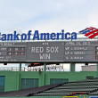 Boston Red Sox win as message in Fenway Park on April 20, 2013 in Boston, USA. — Foto de Stock