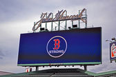 Fenway Park, Boston Strong message, Boston, United States. — Stok fotoğraf