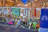 Boston, Memorial from flowers set up on Boylston Street, USA. — Stock Photo