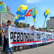 Постер, плакат: Political meeting on May 18 2013 in Kiev Ukraine