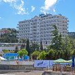Radisson Blue Hotel near Black Sea in Alushta, Ukraine. — Stok fotoğraf