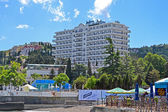 Radisson Blue Hotel near Black Sea in Alushta, Crimea, Ukraine. — Stok fotoğraf