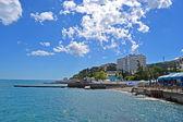 Radisson Blue Hotel near Black Sea in Alushta, Ukraine. — Stock Photo