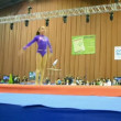 International sport gymnastics competition in Kiev, Stella Zakharova Cup. — Stok video