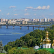 Kiev-Pechersk Lavra, Dnieper river, Kiev landscape, summer. — Stock Photo
