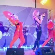 Julia Kovalchuk (Russia) dancing in Alushta, Ukraine, — Stock Video