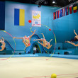 Russian gymnast command during the tournament in Kiev, Ukraine. — Stock Photo