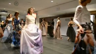 Mercedes Benz Kiev Fashion Days (MBKFD) 2014 in Kiev, Ukraine. — Stock Video