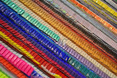 Abstract rainbow line heap, decoration. — Stock Photo