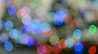 Holiday diversity, abstract blinking rainbow lights. — Stock Video