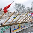Barricade on Euro maidan meeting in Kiev, Ukraine. — Stock Photo