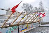 Barricade on Euro maidan meeting in Kiev, Ukraine. — ストック写真