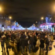 Paris, Avenue des Champs-Elysees, France, Christmas illumination. — Stock Video