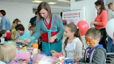 International Children's day, NIKO Junior Fest 2014, Kiev, Ukraine. — Stock Video
