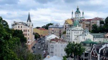 Wieża kościoła, św., Ryszard król w Kijowie, Ukraina. — Wideo stockowe