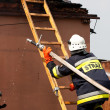 Fire in small village in Poland, rescue action — Стоковая фотография