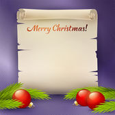 Background for the Christmas greetings — Stock Vector