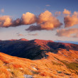 Royalty-Free Stock Photo: Mountain landscape in warm colors