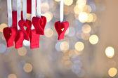 Achtergrond van de dag van de valentijnskaart — Stockfoto