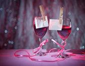 два стакана красного вина — Стоковое фото