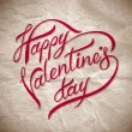 Hand lettering happy valentine — Stock Vector