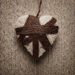 Decorative heart from threads — Stockfoto