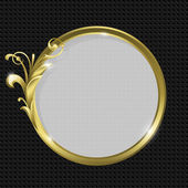 Gold round frame — Stock Vector