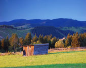 Wooden shed in the mountains — Stock Photo