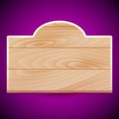 Planche de bois — Vecteur