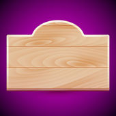 Wooden board — Vector de stock