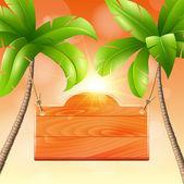 Illustration of summer vacation — Stock Vector