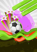 Abstract background for design on a football theme — Stock Vector