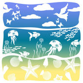 Abstraction on a sea theme — Stock Vector