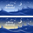 Vector background on the Christmas theme — Stock Vector