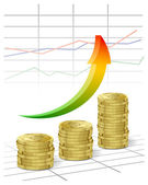 Vector it on a theme of business with cents — Stock Vector