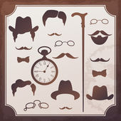 Set of vintage elements for design. Style of 1900s — Stock Vector