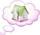 Sueño de ilustración de su propio hogar. vector — Vector de stock