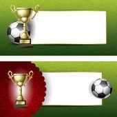 Antecedentes para el diseño sobre un tema de fútbol — Vector de stock