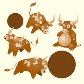 Vector illustration of a calf — Stock Vector