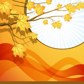 Vector background on a theme of autumn — Stock Vector